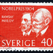 Постер, плакат: Postage stamp Sweden 1964 Sir Ramsey and Pavlov