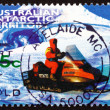 Postage stamp Australi1998 Snowmobile — Stock Photo #39202873