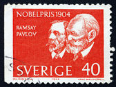 Postage stamp Sweden 1964 Sir Ramsey and Pavlov — Stock Photo