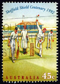 Postage stamp Australia 1992 Bowler, Cricket Match, 1890s — Stock Photo