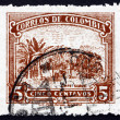 Postage stamp Colombia 1932 Coffee Cultivation, Plantation — Stock Photo