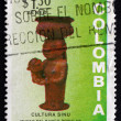 Stock Photo: Postage stamp Colombi1973 Womand Child, Ceramic