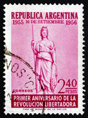 Postage stamp Argentina 1956 Liberty, Allegory — Stock Photo