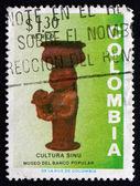 Francobollo colombia 1973 donna e bambino, in ceramica — Foto Stock