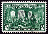 Postage stamp Canada 1927 The Fathers of Confederation — Stock Photo