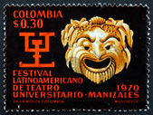 Postage stamp Colombia 1970 Greek Mask — Stock Photo