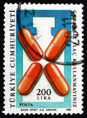 Postage stamp Turkey 1988 Fight Drug Abuse, Health — Stock Photo