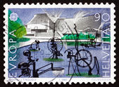 Postage stamp Switzerland 1987 Carnival Fountain, 1977, Sculpture — Stock Photo