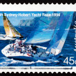 Postage stamp Australia 1994 Two Yachts Abeam — Stock Photo
