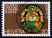 Postage stamp Switzerland 1978 Arms of Vaud Canton — Stock Photo