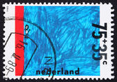 Postage stamp Netherlands 1988 Swimming Test, Drawing — Stock Photo