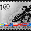 Postage stamp Poland 1973 Motorcyclist — Stock Photo #39512097