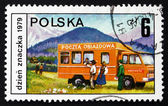 Postage stamp Poland 1979 Mobile Post Office — Stock Photo