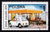 Postage stamp Poland 1979 Drive-in Post Office — Stock Photo