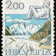 Postage stamp Switzerland 1983 Virgo, Jungfrau Monch Eiger Mount — Stock Photo #39520225