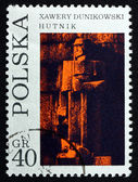 Postage stamp Poland 1971 Founder, by Xawery Dunikowski — Stock Photo