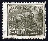 Postage stamp Brazil 1920 Railroad — Stock Photo