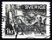 Postage stamp Sweden 1970 Miner in a Mine — Stock Photo
