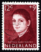 Postage stamp Netherlands 1957 Girl's Portrait, by Matthijs Mari — Stock Photo