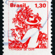 Stock Photo: Postage stamp Brazil 1977 Coffee Picker