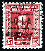 Postage stamp Uruguay 1933 Juan Antonio Lavalleja, Revolutionary — Stock Photo