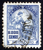 Postage stamp Brazil 1920 Education, Allegory — Stock Photo