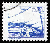 Postage stamp Brazil 1976 Raft Fisherman — Stock Photo