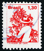 Postage stamp Brazil 1977 Coffee Picker — Stock Photo