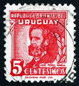 Estampilla uruguay 1945 jose pedro varela, autor — Foto de Stock