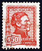Postage stamp Uruguay 1973 Artigas, General and Patriot — Stock Photo
