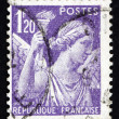 Stock Photo: Postage stamp France 1944 Iris, Goddes of Rainbow