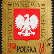 Postage stamp Poland 1966 Polish Eagle — Stock Photo