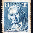 Stock Photo: Postage stamp France 1934 Joseph Marie Jacquard, Inventor