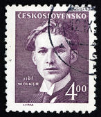 Postage stamp Czechoslovakia 1949 Jiri Wolker, Poet — Stock Photo