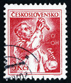 Postage stamp Czechoslovakia 1961 Chemist — Stock Photo