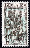 Postage stamp Czechoslovakia 1961 Puppets — Stock Photo