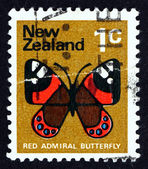 Postage stamp New Zealand 1970 Red Admiral Butterfly — Stock Photo