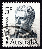 Postage stamp Australia 1970 Sir Edmund Barton, Prime Minister — Stock Photo