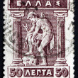 Stock Photo: Postage stamp Greece 1911 Hermes Donning Sandals