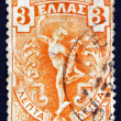 Stock Photo: Postage stamp Greece 1901 Flying Hermes, Statue