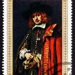 Постер, плакат: Postage stamp Yemen 1968 Jan Six Painting by Rembrandt