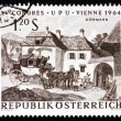 Postage stamp Austria 1964 Changing Horses, by Julius Hormann — Stock Photo