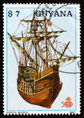 Postage stamp Guyana 1988 Santa Maria, Ship — Stock Photo