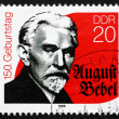 Stock Photo: Postage stamp GDR 1990 August Bebel, Marxist Politician