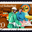 Postage stamp GDR 1975 PolicemHelping — Stock Photo #40098137