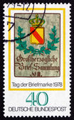 Postage stamp Germany 1978 Baden Posthouse Sign, c. 1825 — Stock Photo