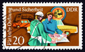 Postage stamp GDR 1975 Policeman Helping — Stock Photo