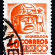 Stock Photo: Postage stamp Mexico 1951 Stone Head, Tabasco