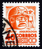 Postage stamp Mexico 1951 Stone Head, Tabasco — Stock Photo