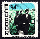 Postage stamp Ecuador 1970 M. L. King, John and Robert Kennedy — Stock Photo